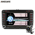 "2 din 7"" Car DVD GPS bluetooth radio CD player for Volkswagen VW golf 5 touran passat jetta 2006 polo tiguan 2013 with free gift"