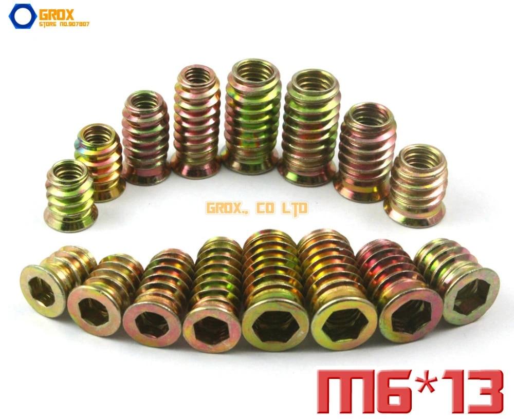 M8x 73mm mobili in legno a doppio tassello di fissaggio a vite 10PCS