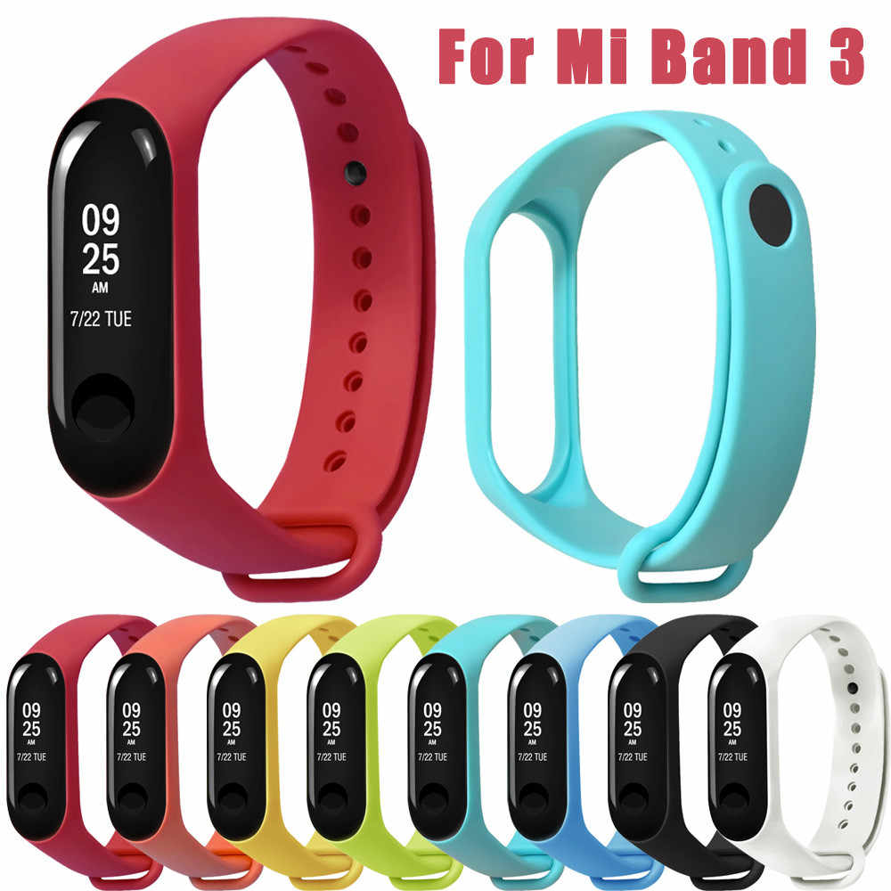 Fashion Soft Silicone Strap TPE Wristband Replacement Strap High Quality For Xiaomi Mi Band 3 Watch Band For Mi Band NEW L0506