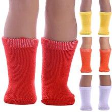 Легкие носки для куклы, милые мини яркие цвета, чулки для девочек, мягкие тканевые игрушки, аксессуары, прочные для 18 дюймовых кукол