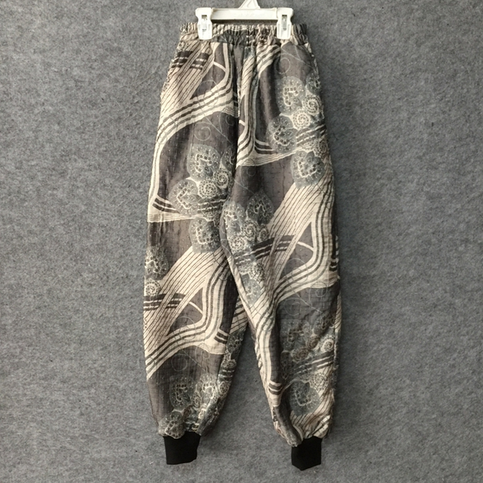 M-XXL!!! Gris abstrait encre harbour saveur lâche chrysanthème poudre petit pied harem pantalon, original designer hommes porter