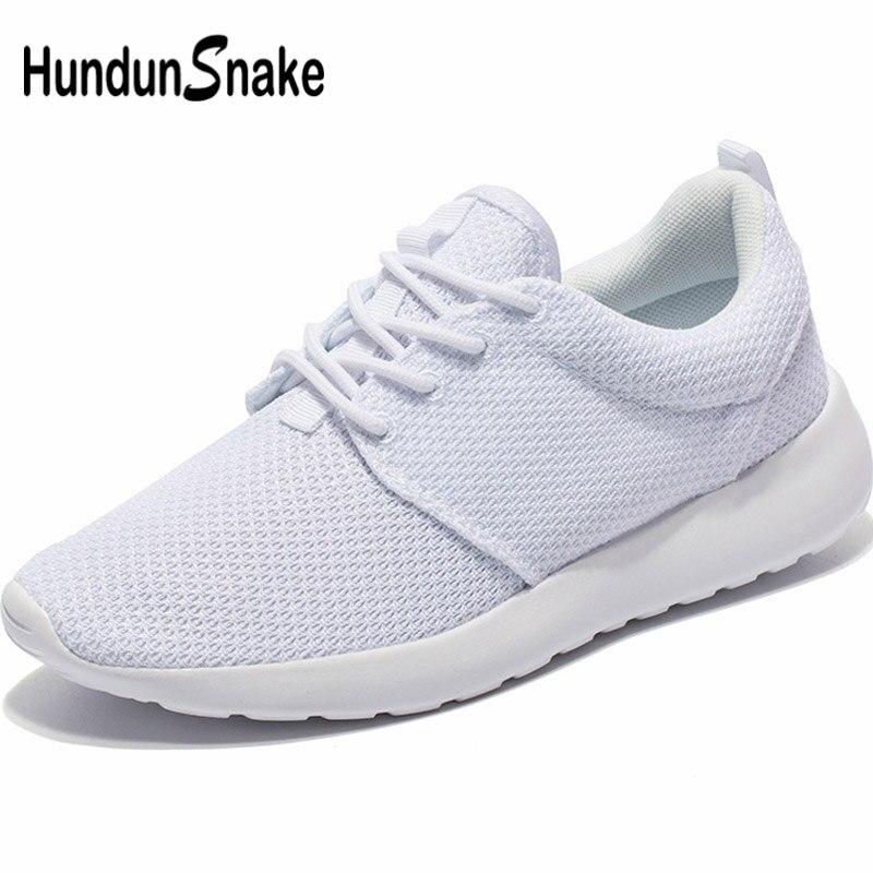 Hundunsnake Mesh Mens Tennis Shoes Summer Men's Sneakers Lightweight Women Running Shoes For Men Breathable Fitness White G-30