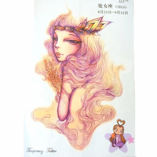 Fashion 12 Constellation Waterproof Hot Temporary Tattoo Stickers Virgo