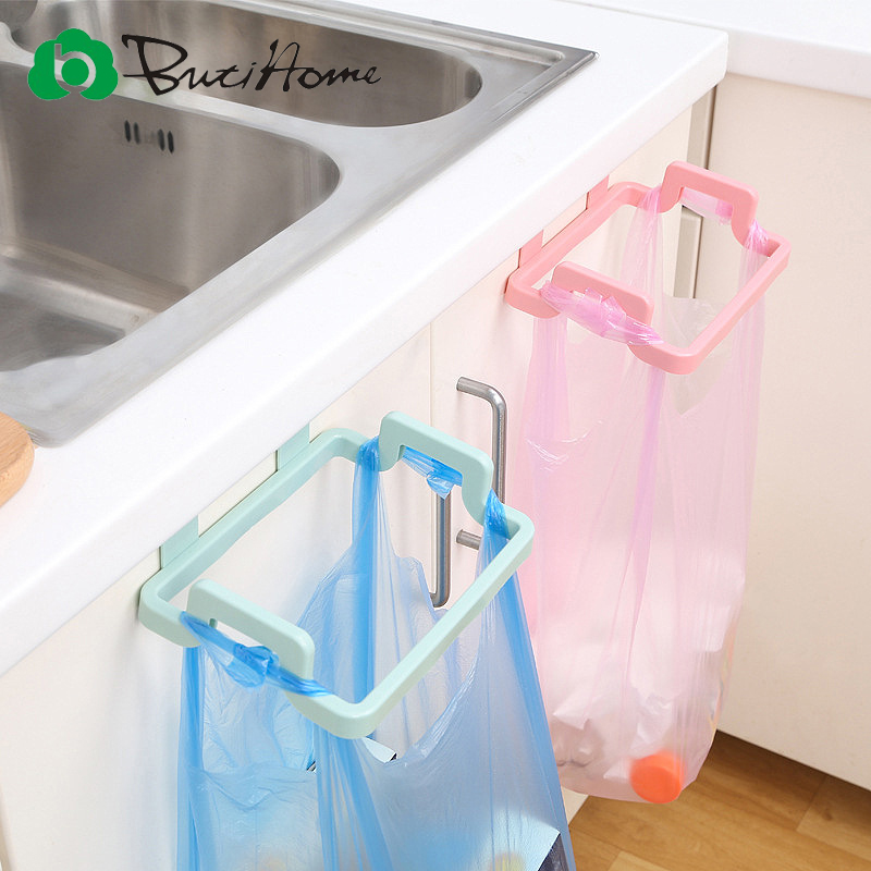 Butihome Kitchen Trash Bags Brackets Household Cabinets Rags Storage Rack Kitchen Trash Rack Kitchen Accessories