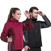 Hiver Imperméable Randonnée Veste En Plein Air Vestes Manteau Vêtements Andes Triple Trois Ensembles Coupe-Vent Respirant Sport Alpinisme