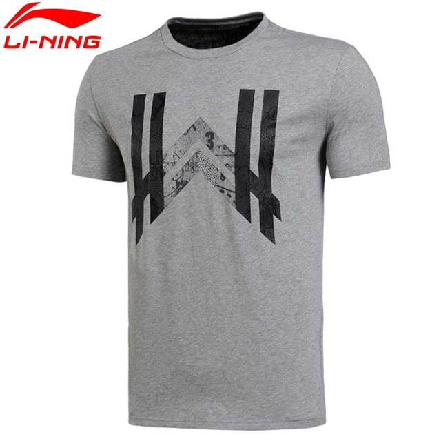 Li-Ning Men's Wade LiNing Sports T-Shirts Quick Dry Breathable Basketball Jerseys Flexible Tee AHSL283 MTS1834