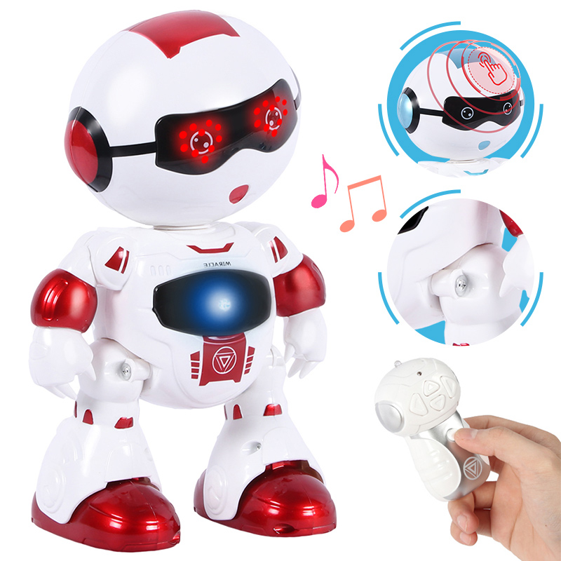 Divertido Cabeza Táctil Función De Detección Robot Bailando Cantando Acción Figura Control Rc Robot Juguete Para Niños Regalos De Cumpleaños