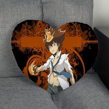 Personalizado sawada tsunayoshi coração forma travesseiro capa com zíper fronha capa casamento escritório em casa tamanho decorativo melhor presente diy