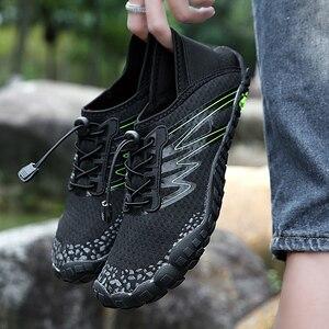 Image 3 - 36 46 יוניסקס קיץ מים נעלי גברים חמש אצבע חיצוני במעלה הזרם שכשוך נטו טיולים חמישה טופר טיולים קל משקל לנשימה נעליים