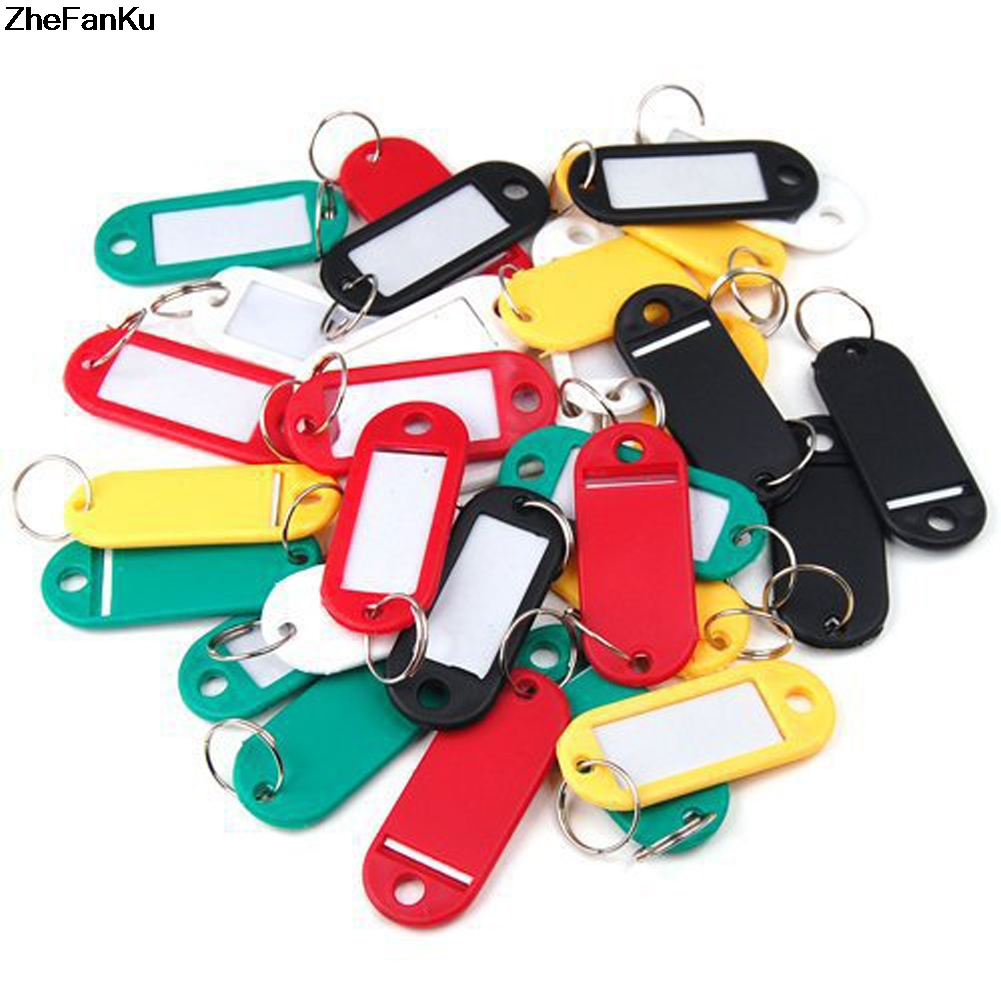 10pcs/set Fashion The Luggage Tag Key Card Color Random Plastic Key Chain Bag Tag Key Token Card Accessories