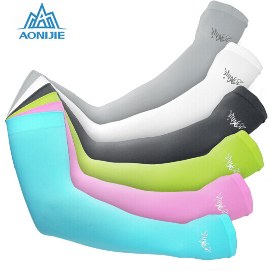 AONIJIE Outdoor Games Sports Hiking Cycling Arm Sleeves Sun Bike Bicycle ice Breathable ...