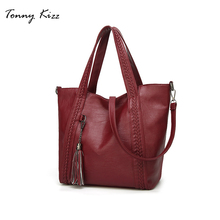 Tonny Kizz handbag Large capacity totes shoulder bags Messenger crossbody for women 2018 autumn winter pu Leather hand