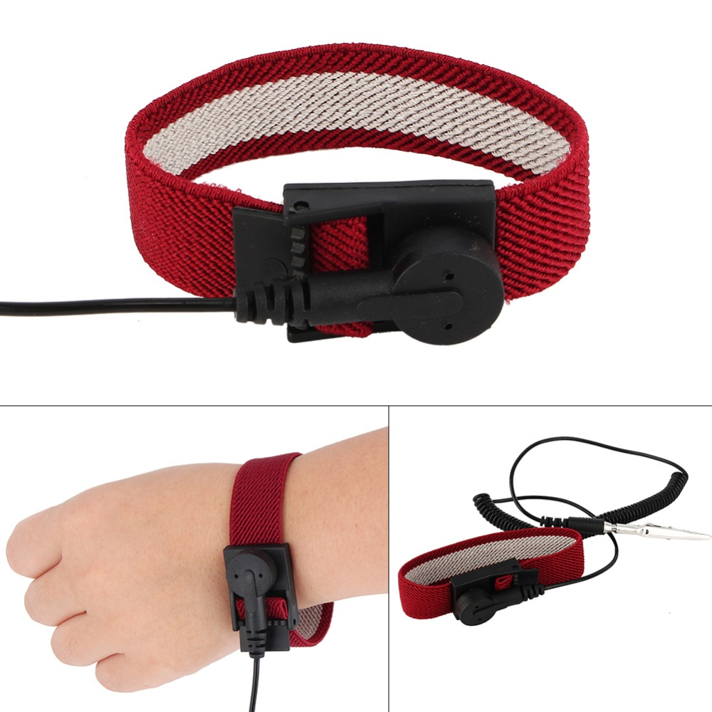 Free Shipping 5pcs Anti Static Wirst Band Antistatic Cordless Esd Discharge Wrist Strap Grounding Hand & Power Tool Accessories Power Tool Accessories