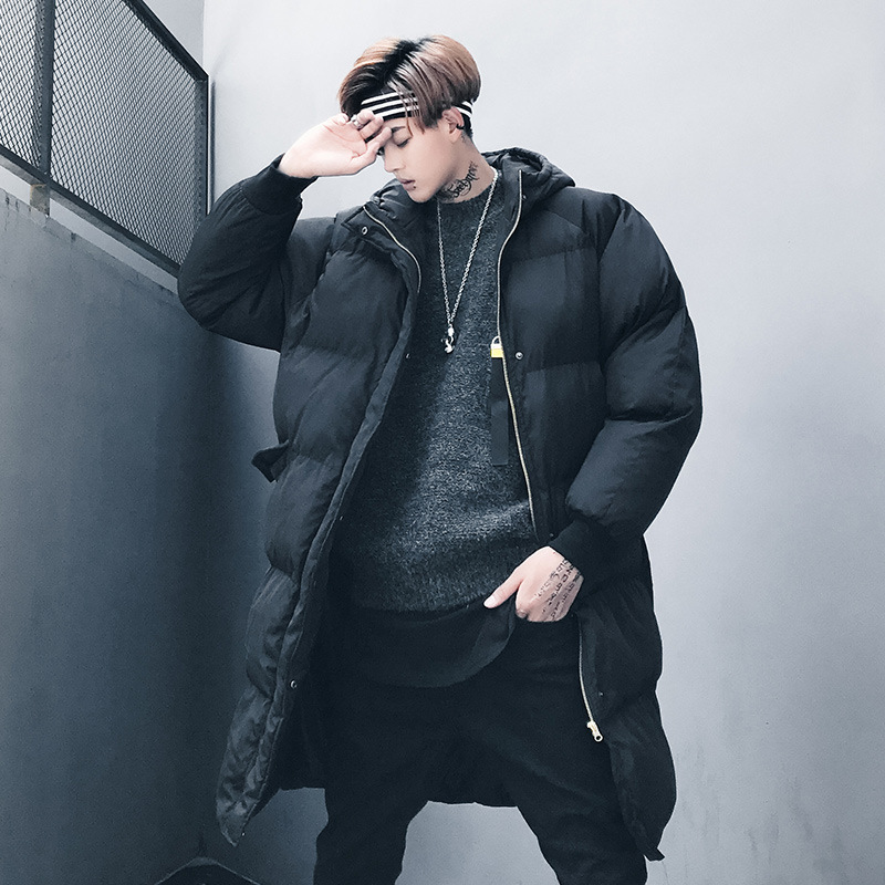 Mens Cotton-padded Jacket Winter Long Warm Hooded Outwear Jacket Coat Men Cotton-Padded Clothing Y501 2016 new long winter jacket men cotton padded jackets mens winter coat men plus size xxxl