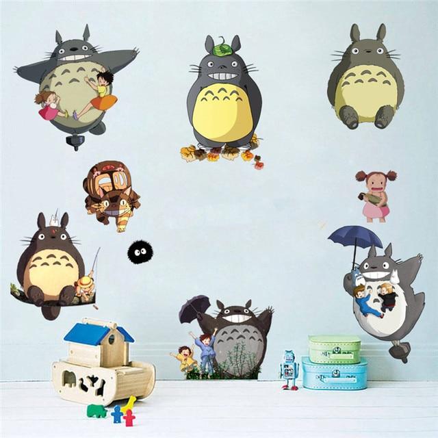 Nursery School Wall Decals My Neighbor Cute Totoro Cartoon 3d Vinyl
