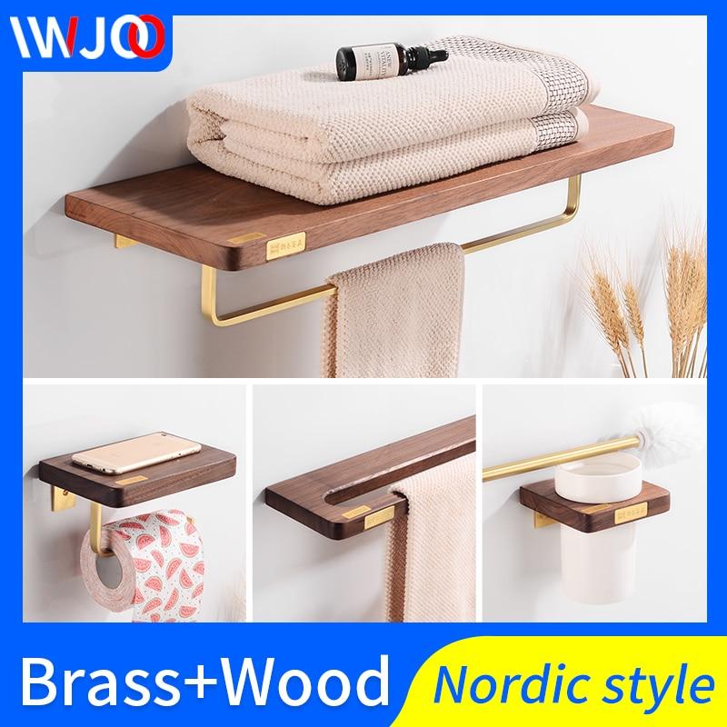 Bathroom Towel Holder Br Wood