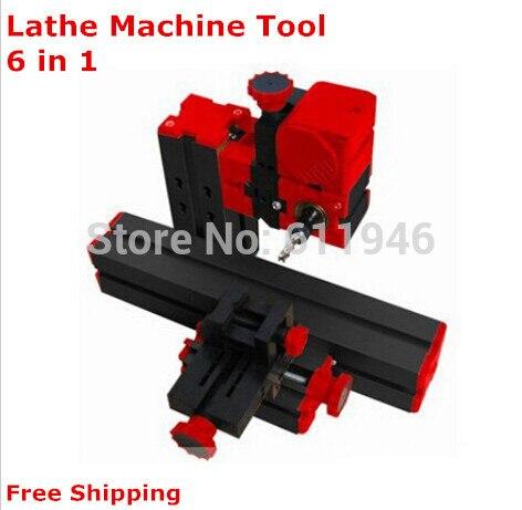 5set Mini Lathe Machine 6 in 1, DIY Mini Micro Lathe Machine Tool 6 in 1, For Wood and Soft Metal small micro beads polishing lathe cutting car beads machine mini diy woodworking turning lathe c00108