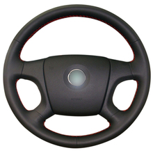Hand-stitched Black Artificial Leather Car Steering Wheel Cover for Old Skoda Octavia 2005-2009 Fabia 2005-2010 недорого