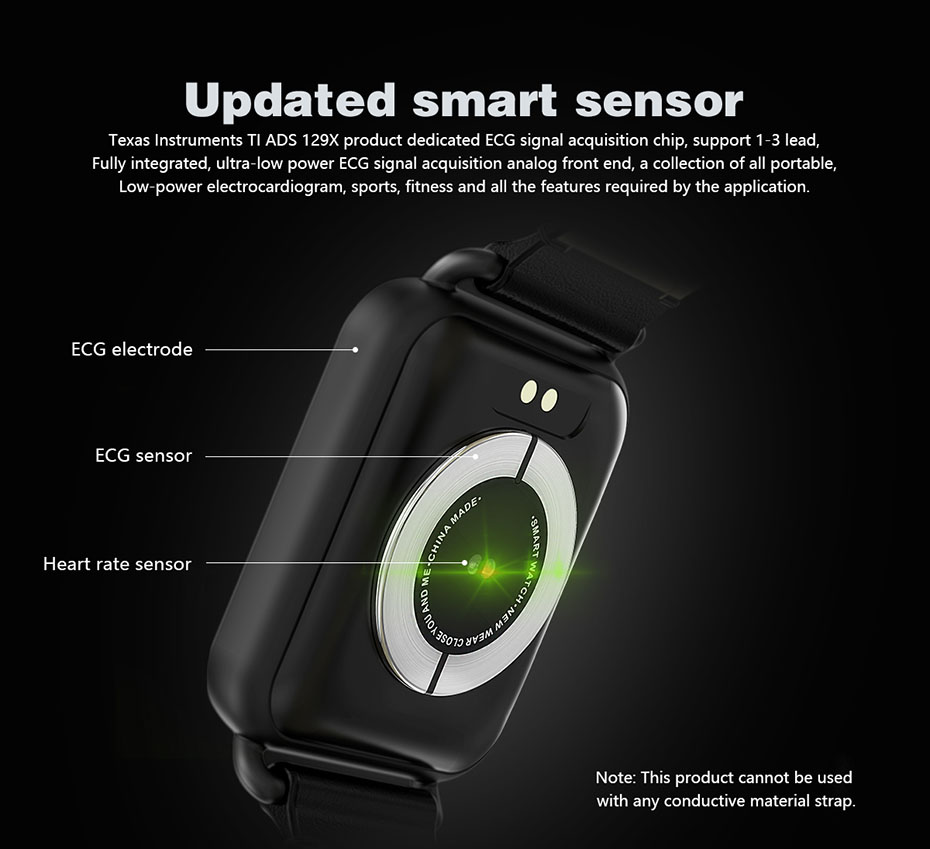 COLMI ECG Smartwatch Electrocardiography Heart Rate Monitor Smart Watch Activity Fitness Tracker Clock for IOS Android_02