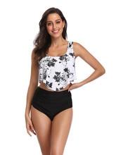 High Wasit Bikini 2019 Mujer Print Swimwear Women Plus Size Swimsuit Women Ruffle Bikini Brazilian Beachwear Bathing Suit plus size print ruffle bikini set