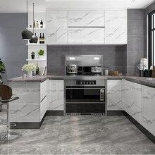 Современная мраморная самоклеящаяся настенная бумага для кухни, двери шкафа, Настольная мебель, отремонтированные наклейки, виниловая Водонепроницаемая контактная бумага