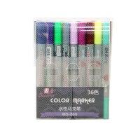 Penna del Contrassegno di Acqua superiore di colore 36 set di colore della penna del fumetto dipinto a mano progettato per i principianti