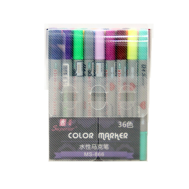 Pluma De Marca De Agua Superior Color 36 Juegos De Dibujos Animados Pintados A Mano Lápiz Diseñado Para Principiantes