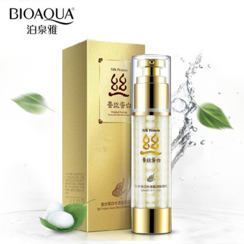 modissa whitish honey brown seaweed vitality lotion deep lasting moisturizing oil control easy to absorb facial lotion skin care BIOAQUA Silk Protein Face Lotion Deep Hydrating Oil-control Moisturizing Anti Wrinkle Face Essence Lotion 60g