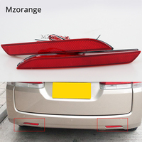 2Pcs Car LED Tail Rear Bumper Reflector Lights Round Brake Stop Light Warning Lamp For Honda