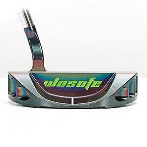 Image 2 - 골프 클럽 퍼터 남자 오른손 퍼터 스틸 샤프트 원형 퍼터 PVD 블랙 크로매틱 무료 배송