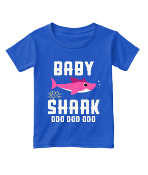baby shark doo doo t shirt DIY Customization Hoodies Tshirt Round Neck Tops Tees Cotton Material Free Shipping