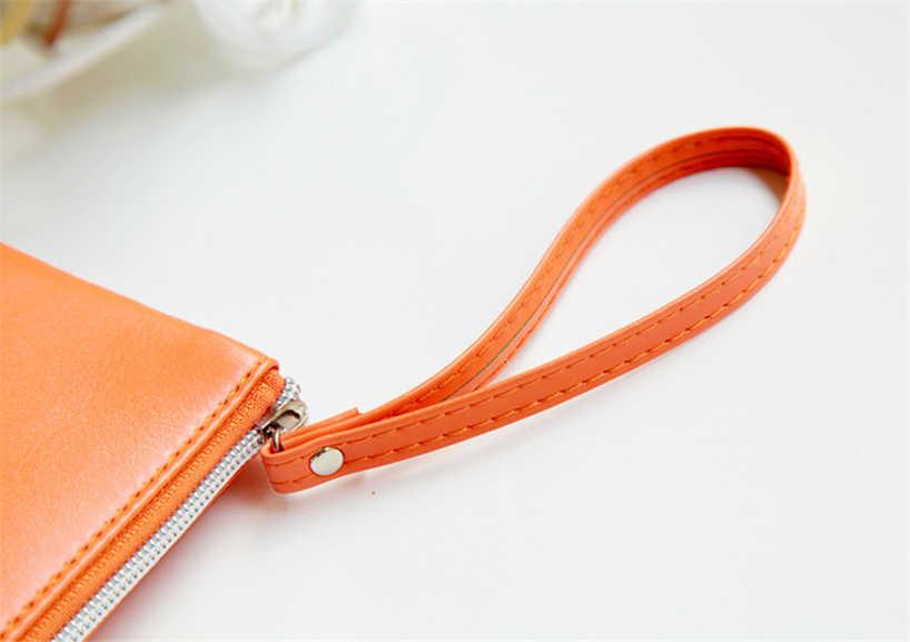 Aelicy Bifold Bolsa de Couro Das Mulheres De Longo Zíper Embreagem Bolsa Saco de Moeda Saco Cartão da Carteira de Couro Bolsa de Viagem Senhoras maquiagem Bag0
