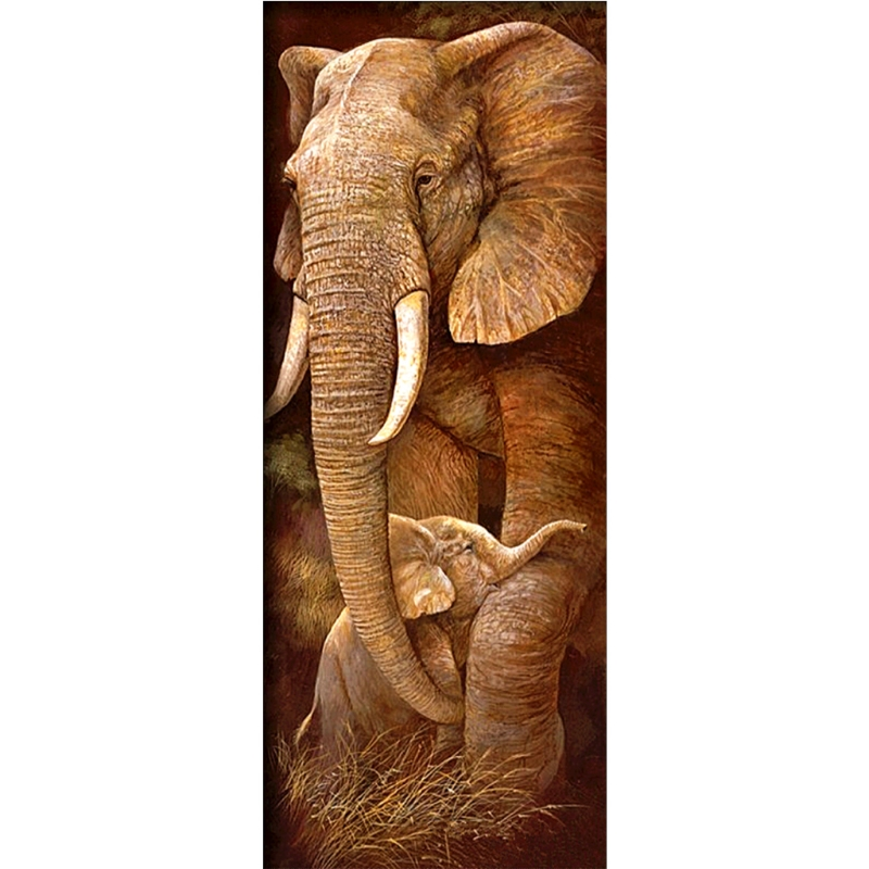 Diamond Painting 5D Full Drill Magnetic Elephant Cross Craft Home Decor Picture