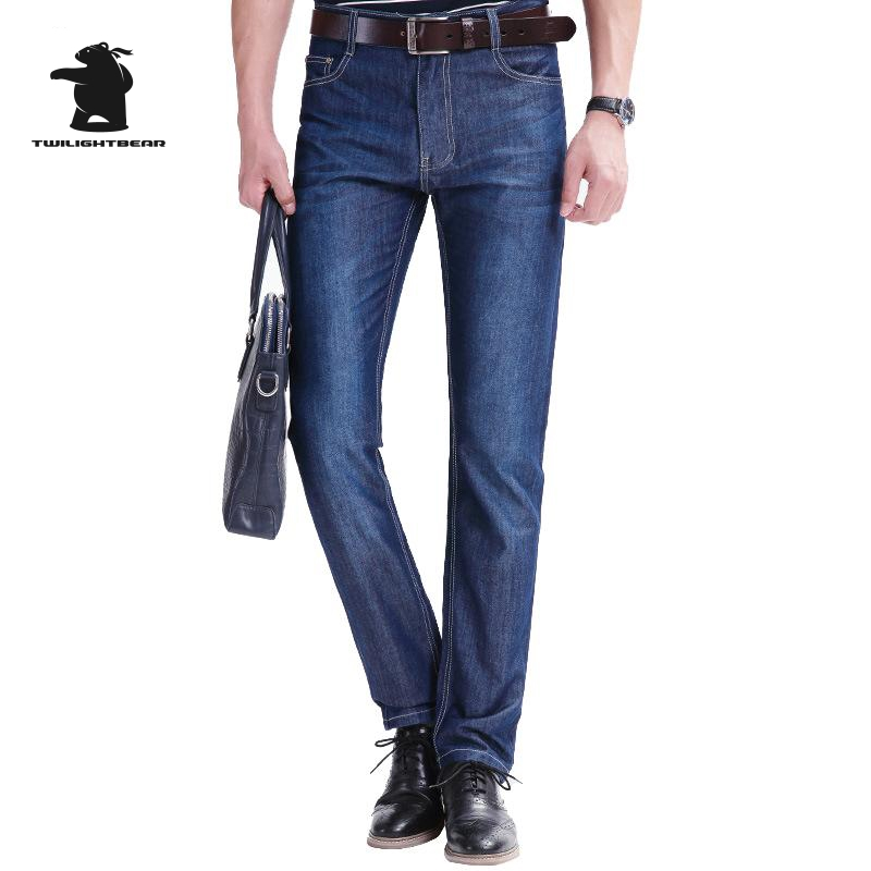 New Men s Csaual Jeans 2016 Autumn And Winter Fashion Washing Plus Size Business Casual Jeans