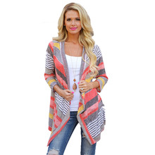 Lady Summer Polo Shirt SIF 2017 Newly Design Women Irregular Stripe Shawl Kimono Suitable Tops Cover Up Cloth Drop Shipping 914(China)