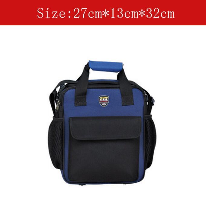 908031ccbd363 أداة صغيرة الحجم متعددة الوظائف حقيبة الأجهزة أداة حقيبة مع حزام الكتف  الأزرق