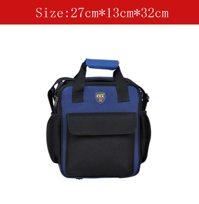 Small size Multifunctional Tool Bag hardware tool bag With Shoulder Strap Blue