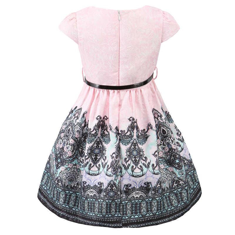 feb7310ffce ... ChildDkivy От 3 до 12 лет Осенние платья для девочек Детские Платья с  цветочным принтом для ...