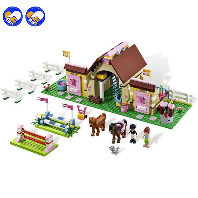 A toy A dream Bela 10163 400Pcs Friends Series Stables Girls Mia's Model Building Blocks Bricks Girl Toys Christmas gift Lepin new bela friends series girls princess jasmine exotic palacepanorama minifigures building blocks girl toys