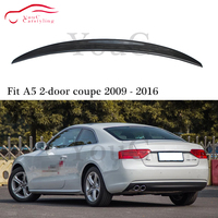 S5 Style Carbon fiber rear spoiler trunk boot tail Lip splitter for Audi A5 2 door coupe Car Styling rear bumper spoiler 09 16