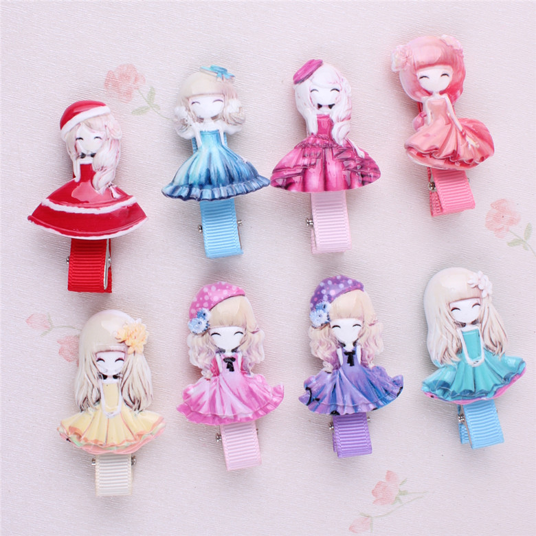 Handmade Snow White Sofia Hrief Princess Hair Accessories Hair Clip Flower Crown Hairpin Elastic Hair Band Headbands 4