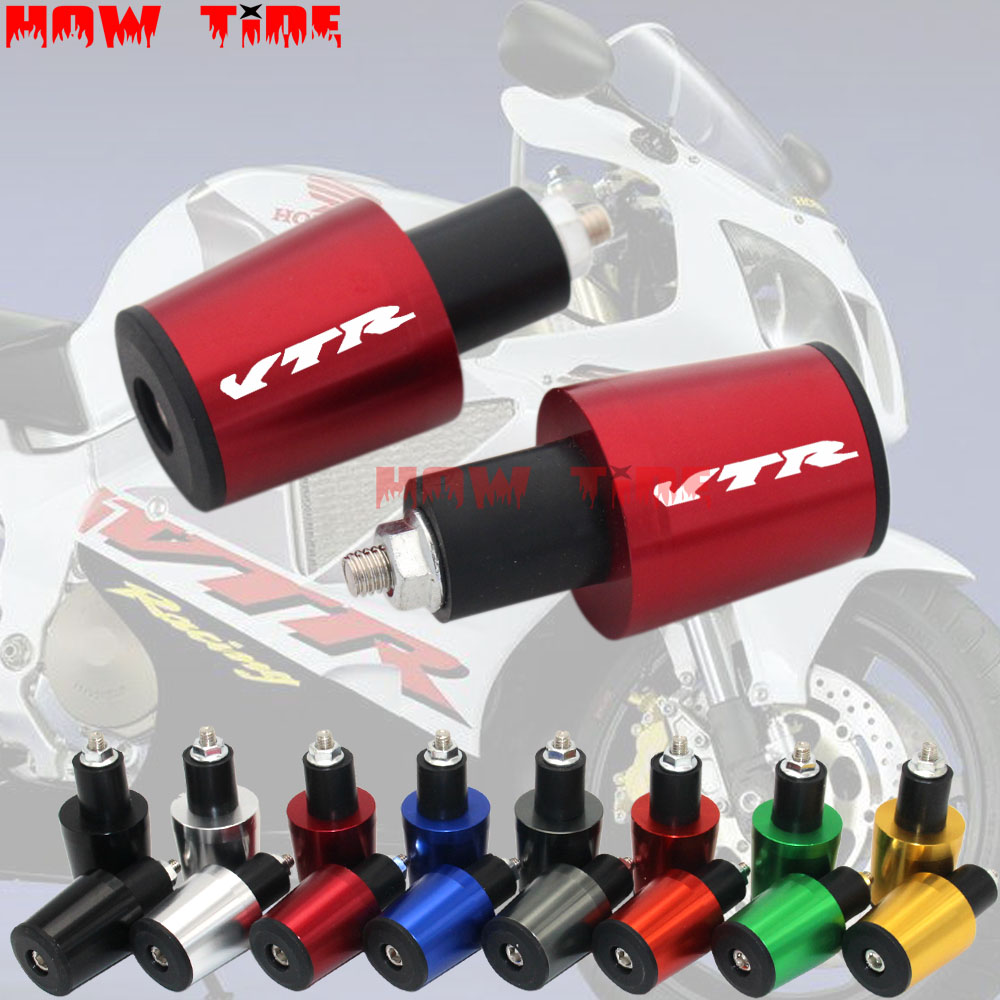 CNC Aluminum Handlebar Grips Bar End Slider Cap Plug fo Honda VTR1000F FIRESTORM