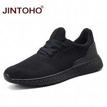 Jintoho 여름 남성 패션 신발 통기성 남성 캐주얼 신발 남성용 블랙 스니커즈 남성용 브랜드 캐주얼 신발 chaussure homme