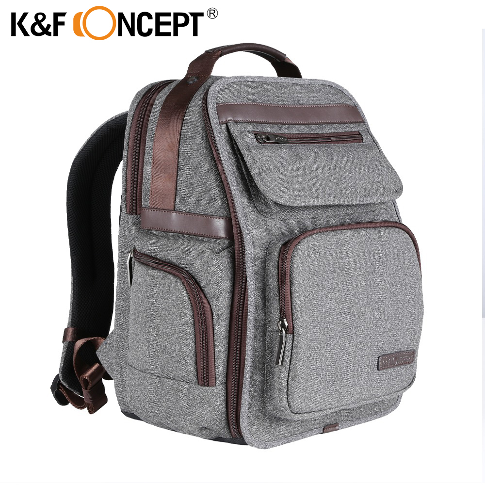 K&F CONCEPT Multi-functional Camera Backpack Video Photo Digital Shoulders Padded Bag Case Waterproof Shockproof Bags for Canon jealiot multifunctional professional camera shoulder bag waterproof shockproof big digital video photo bag case for dslr canon