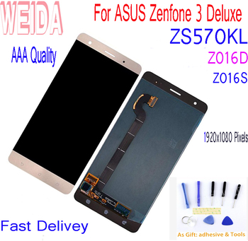 WEIDA 5.7'' For ASUS Zenfone 3 Deluxe ZS570KL Z016S Z016D LCD Display Touch Screen Digitizer Assembly With Tools Tape LCD Replac