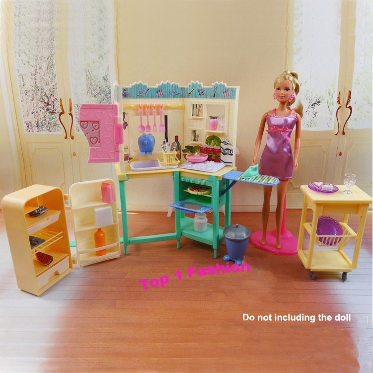 New arrival Kids lady  birthday present play toy doll home Kitech Room furnishings for BJD simba lica barbie doll home