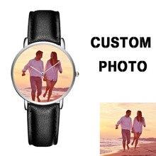 d2171dcaed4 CL034 Couple Brand Your Own Watch Classic Men Women Japan Movt Quartz  Wristwatch Logo Customized For Gift
