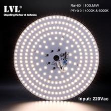 Lampe à LED puce SMD2835 perles Smart IC 220V entrée 6000K 4000K 7W 10W 18W 25W 36W 40W bricolage plafond Source panneau lumineux