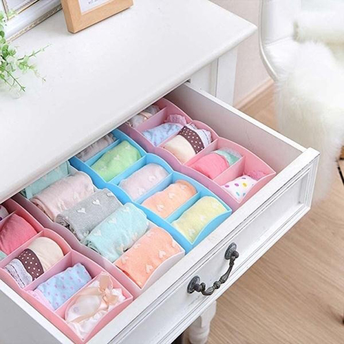 New Fashion 5 Compartment Socks <font><b>Underwear</b></font> Bra Tie <font><b>Drawer</b></font> Storage Box Clothes <font><b>Organizer</b></font> Case Household storage products image