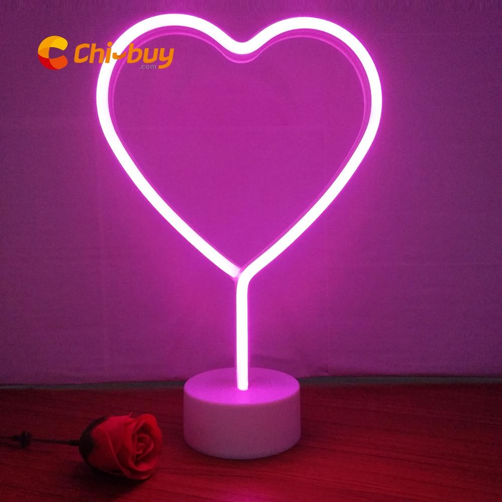 Luce Al Led.Offerte Chibuy Ins Hot Led Neon Cuore Tavolo Light Sign